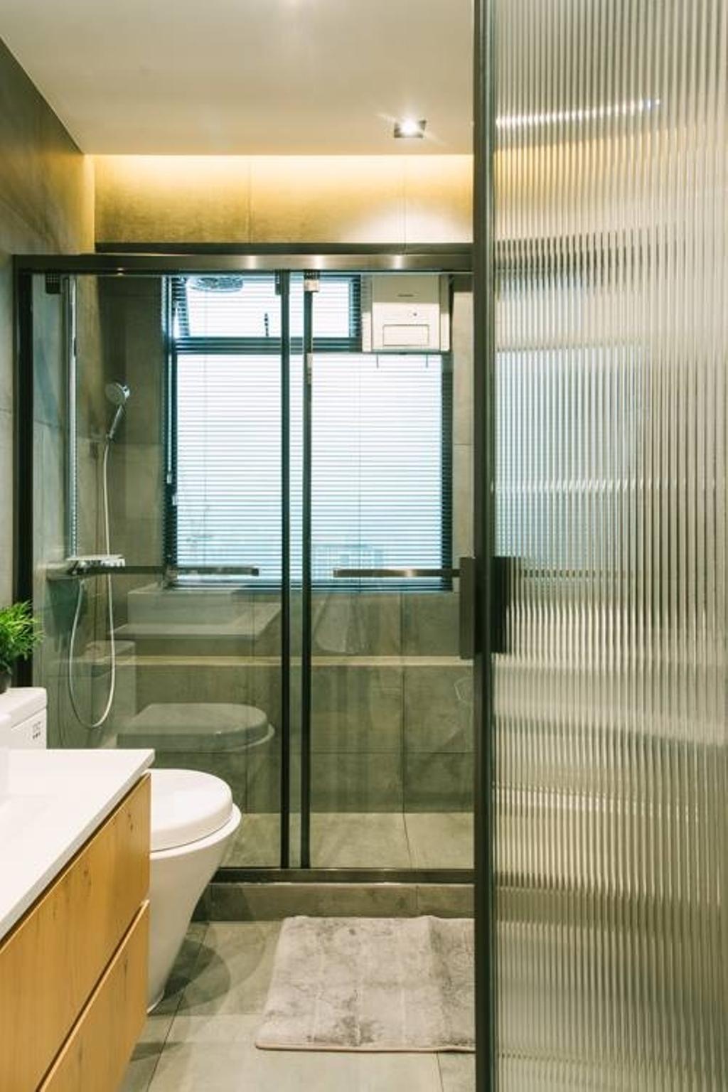 工業, 私家樓, 浴室, Kingsford Gardens, 室內設計師, Ash Studio, 北歐