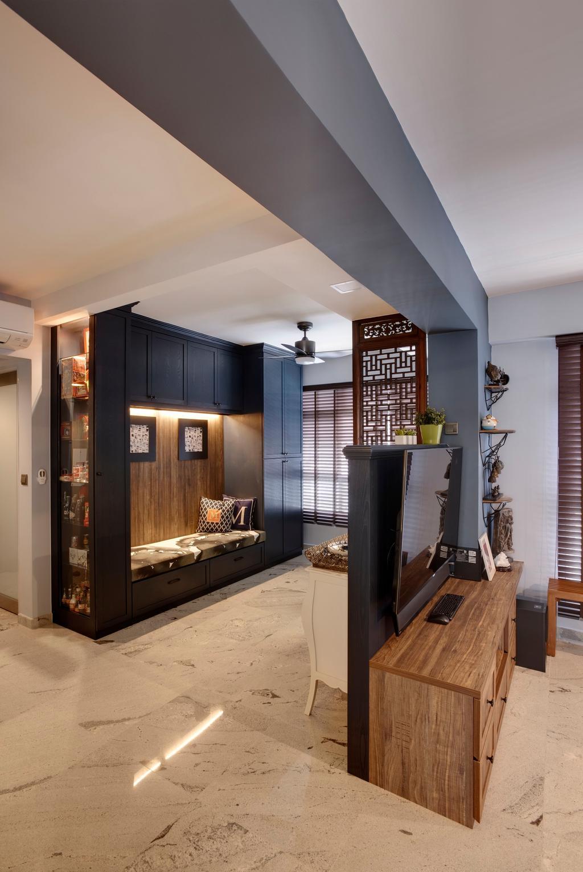 Contemporary, HDB, Living Room, Compassvale Crescent, Interior Designer, Space Factor