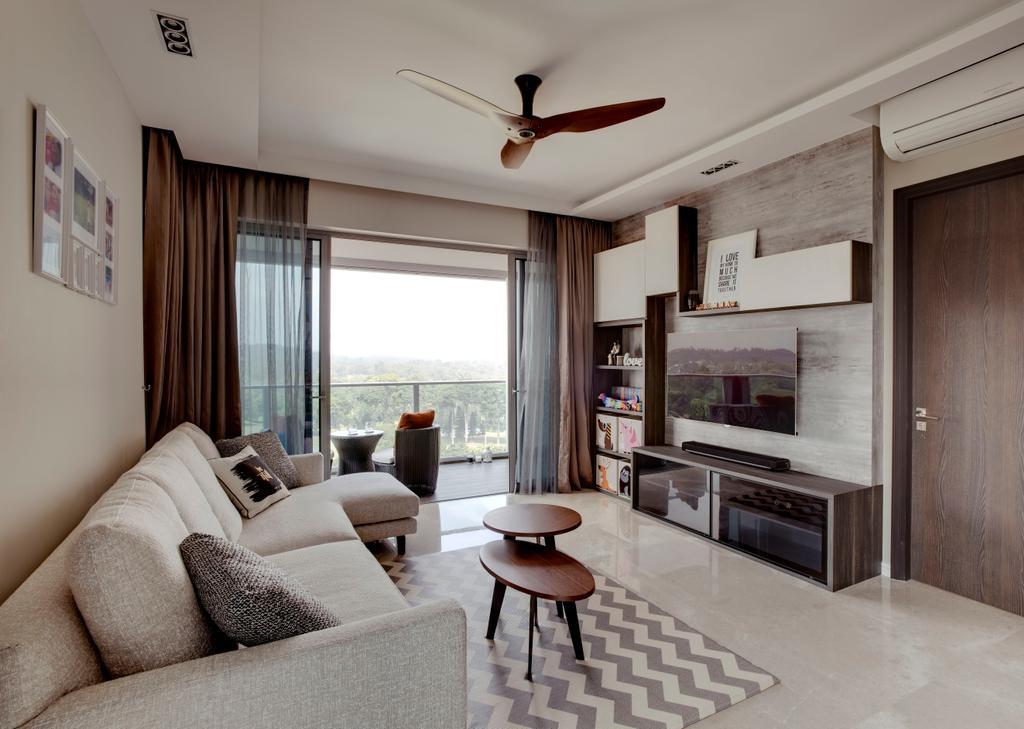 Contemporary, Condo, Living Room, Thomson Grand, Interior Designer, Space Factor