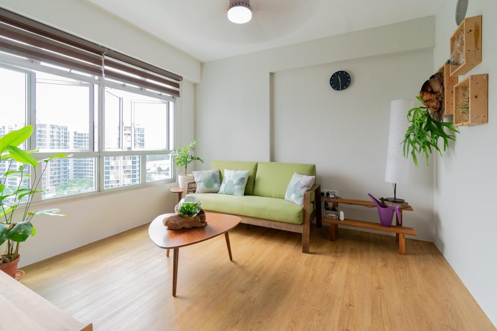Contemporary, HDB, Living Room, Sembawang Crescent, Interior Designer, Yang's Inspiration Design