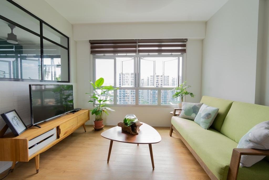 Contemporary, HDB, Living Room, Sembawang Crescent, Interior Designer, Yang's Inspiration Design