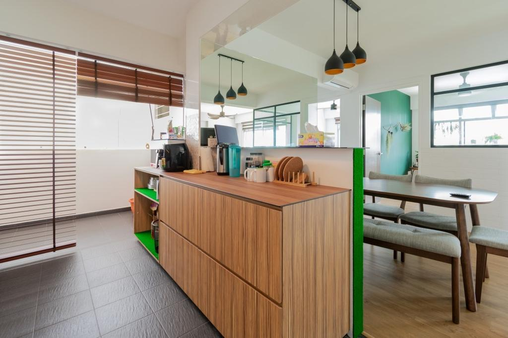 Contemporary, HDB, Kitchen, Sembawang Crescent, Interior Designer, Yang's Inspiration Design