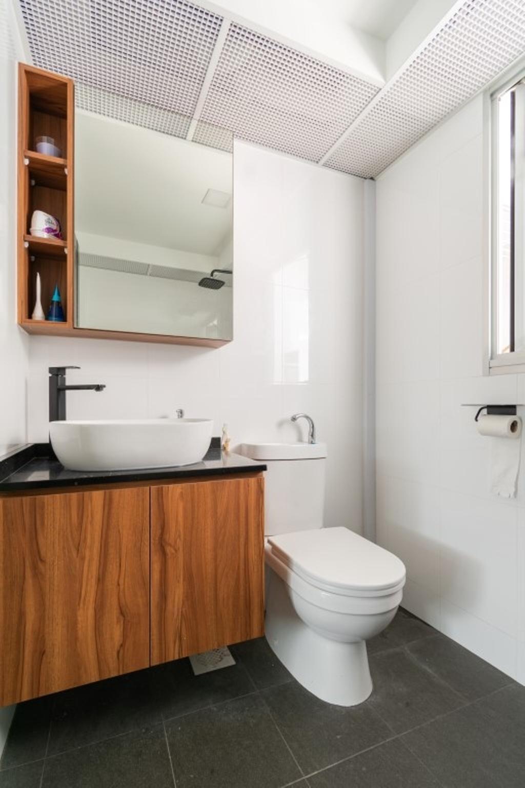 Contemporary, HDB, Bathroom, Sembawang Crescent, Interior Designer, Yang's Inspiration Design