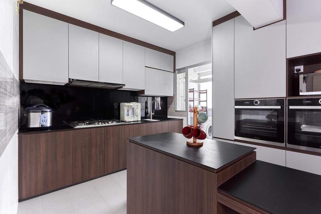 Contemporary, HDB, Kitchen, Anchorvale Crescent, Interior Designer, ChanInteriors