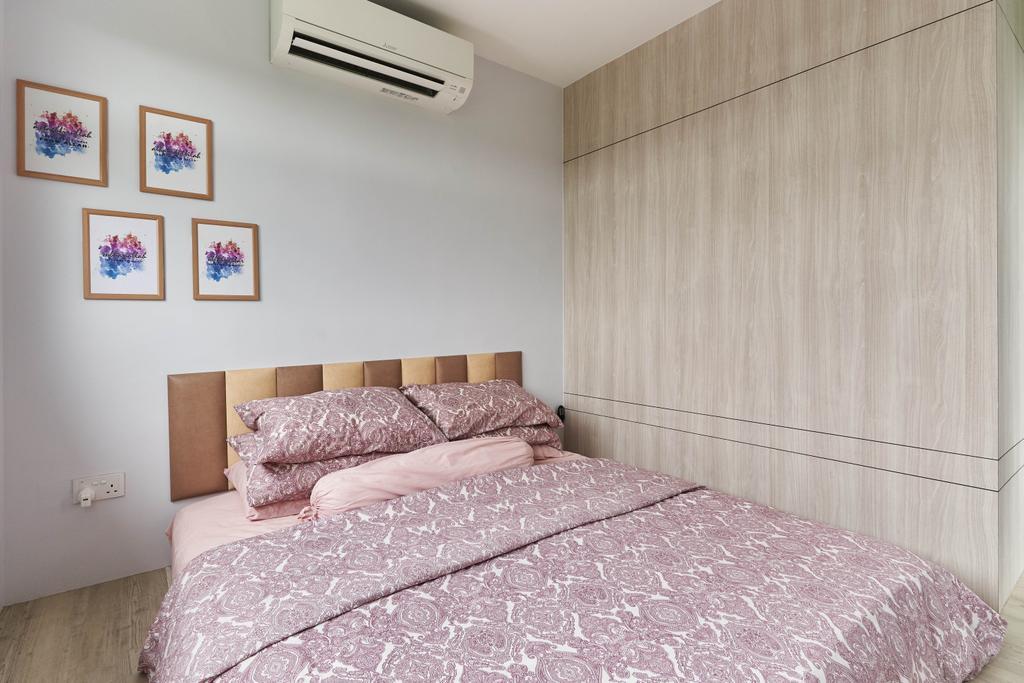 Contemporary, HDB, Bedroom, Anchorvale Crescent, Interior Designer, ChanInteriors