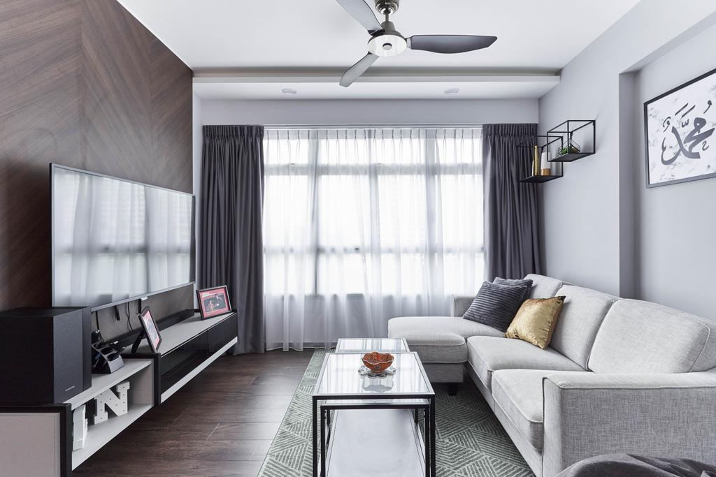 Contemporary, HDB, Living Room, Anchorvale Crescent, Interior Designer, ChanInteriors