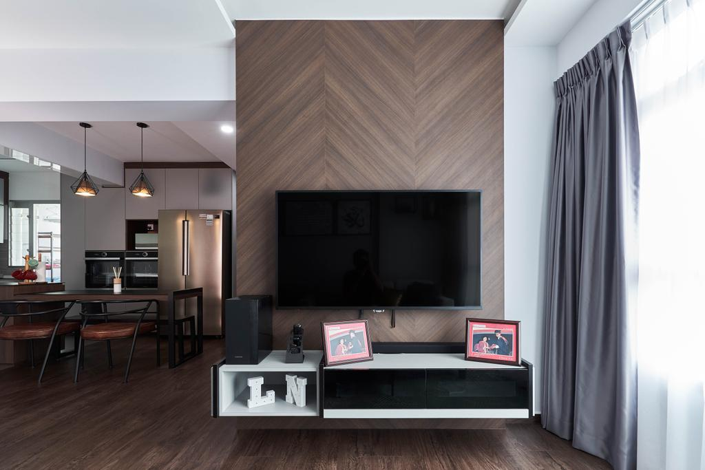 Contemporary, HDB, Living Room, Anchorvale Crescent, Interior Designer, ChanInteriors