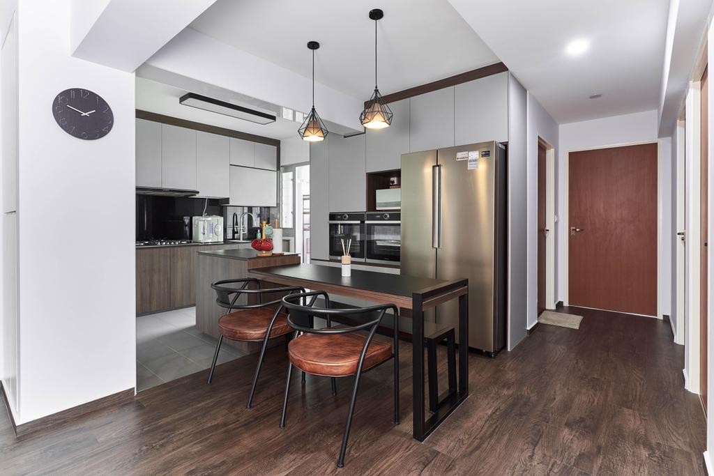 Contemporary, HDB, Dining Room, Anchorvale Crescent, Interior Designer, ChanInteriors