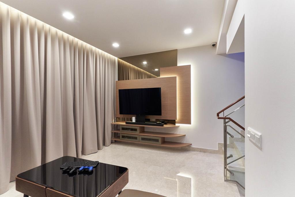 Contemporary, Condo, Living Room, Eight Riversuites, Interior Designer, Azcendant