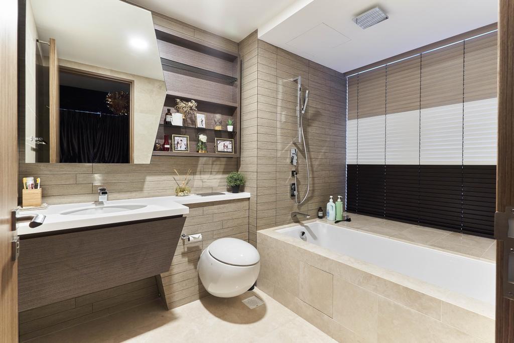 Contemporary, Condo, Bathroom, V on Shenton, Interior Designer, MET Interior, Bath Tub, Bathtub