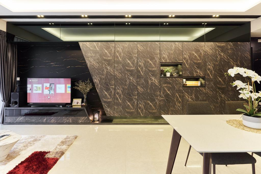 Contemporary, Condo, Living Room, V on Shenton, Interior Designer, MET Interior