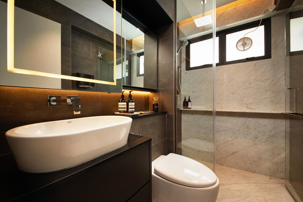 Contemporary, HDB, Bathroom, Serangoon Central, Interior Designer, The Local INN.terior 新家室