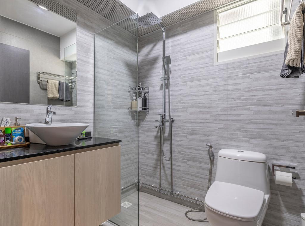 Contemporary, HDB, Bathroom, Punggol Drive, Interior Designer, New Age Interior