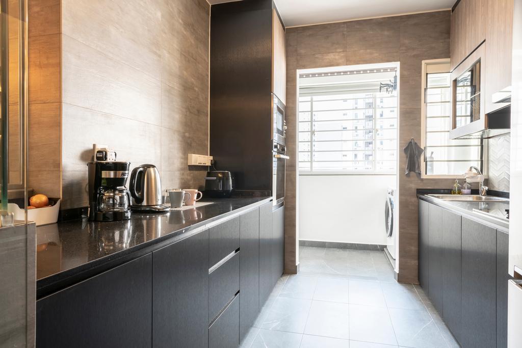 Contemporary, HDB, Kitchen, Punggol Drive, Interior Designer, New Age Interior