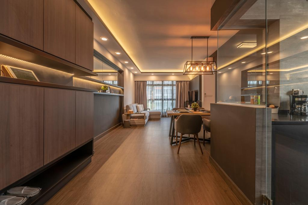 Contemporary, HDB, Living Room, Punggol Drive, Interior Designer, New Age Interior