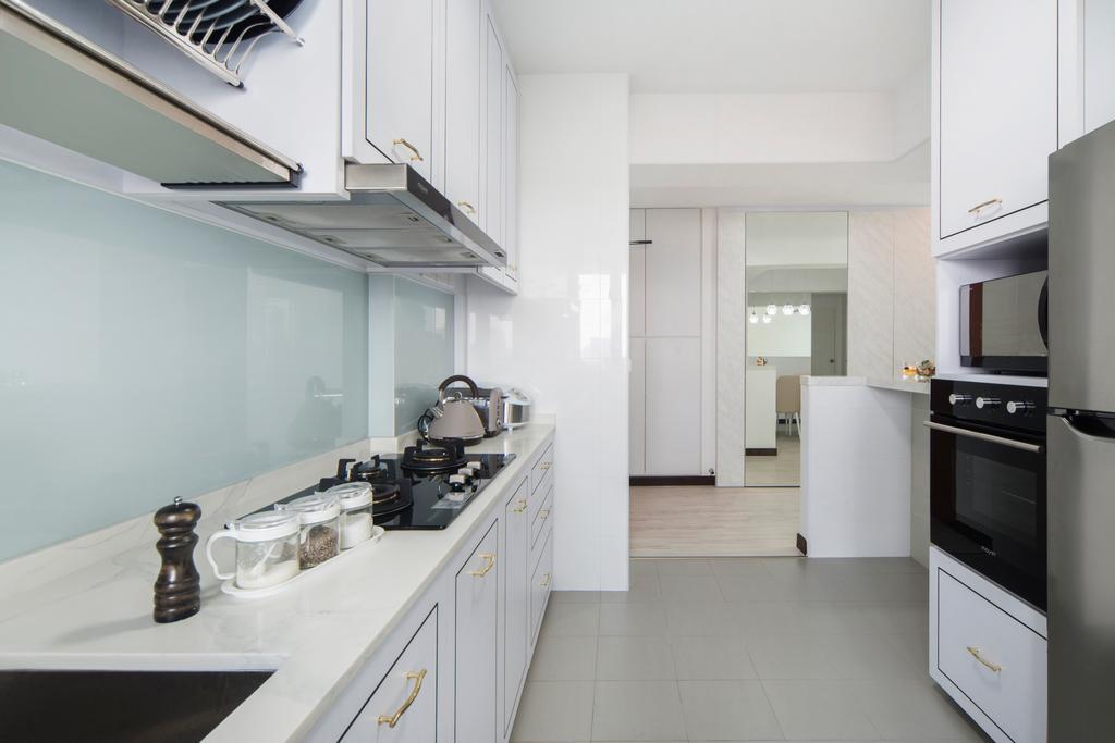 Contemporary, HDB, Kitchen, Lorong Limau, Interior Designer, Cozy Ideas Interior Design