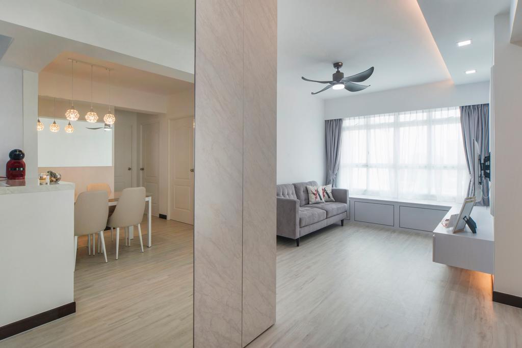 Contemporary, HDB, Living Room, Lorong Limau, Interior Designer, Cozy Ideas Interior Design