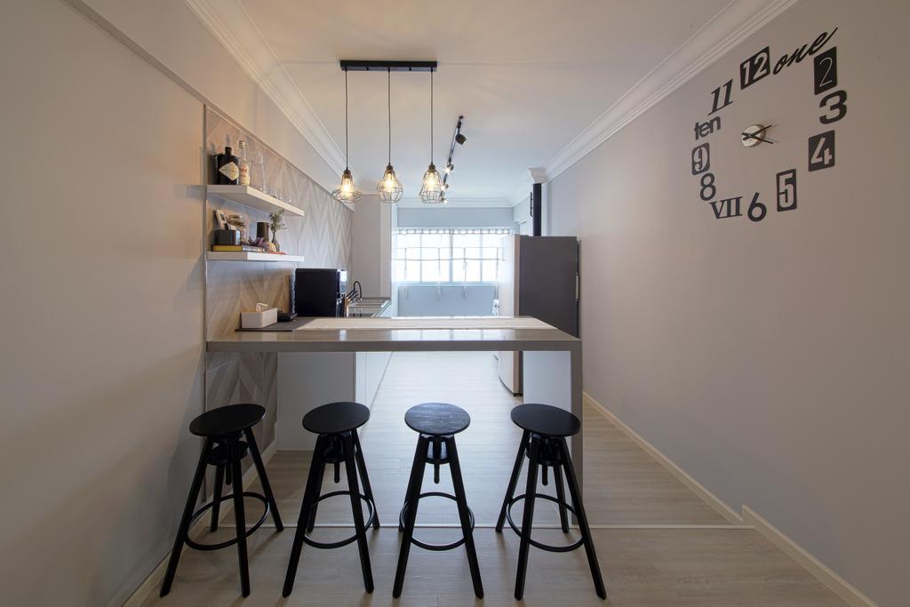 Contemporary, HDB, Dining Room, Bedok North Road, Interior Designer, Dap Atelier