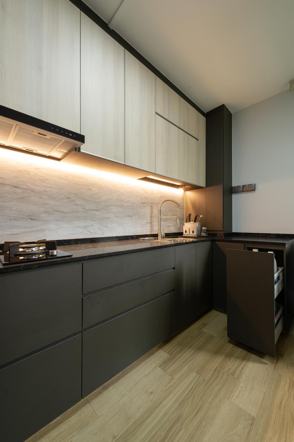 Contemporary, HDB, Kitchen, Jalan Membina, Interior Designer, ELPIS Interior Design
