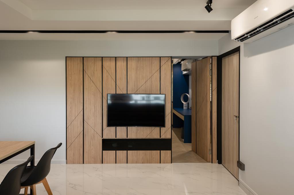 Contemporary, HDB, Living Room, Jalan Membina, Interior Designer, ELPIS Interior Design