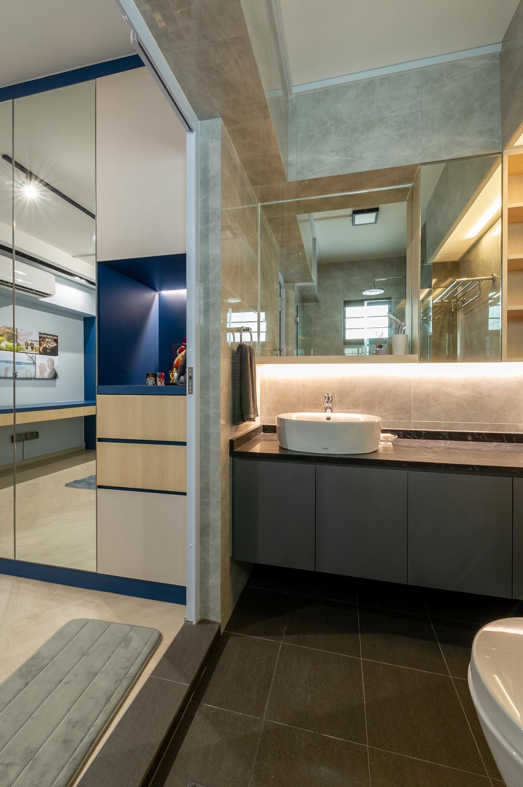 Contemporary, HDB, Bathroom, Jalan Membina, Interior Designer, ELPIS Interior Design