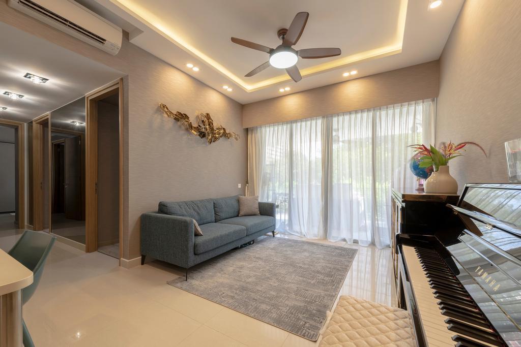 Contemporary, Condo, Living Room, Coco Palms, Interior Designer, Project Guru