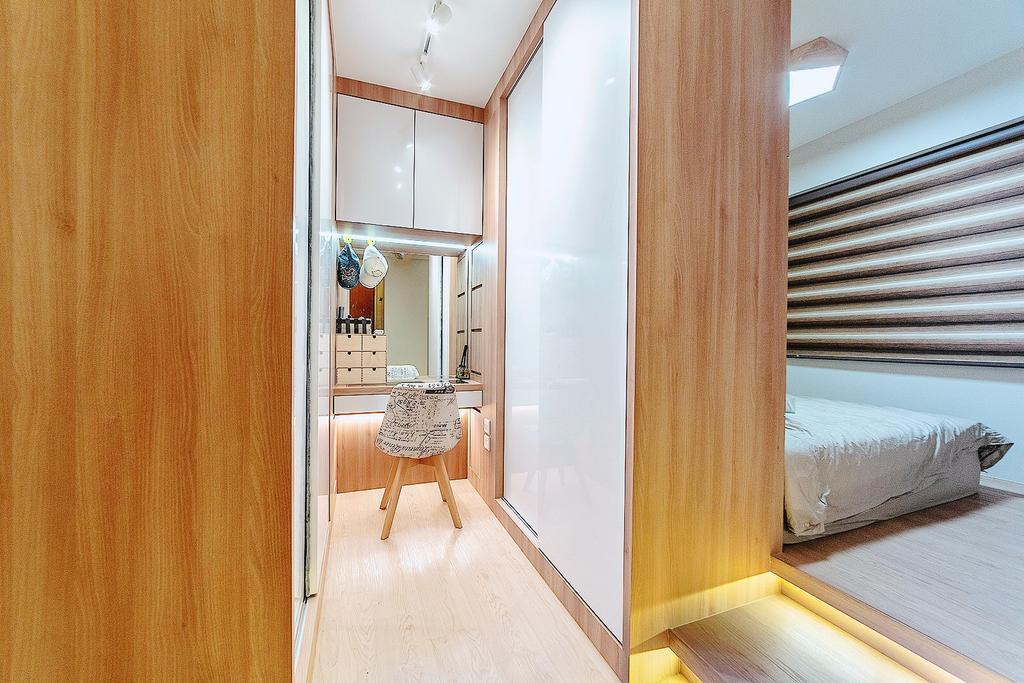 Contemporary, HDB, Bedroom, Canberra Walk, Interior Designer, MET Interior