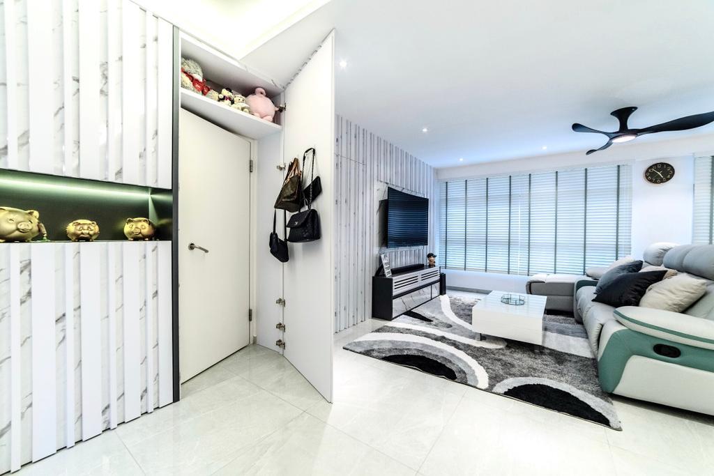 Contemporary, HDB, Living Room, Bukit Batok West, Interior Designer, MET Interior