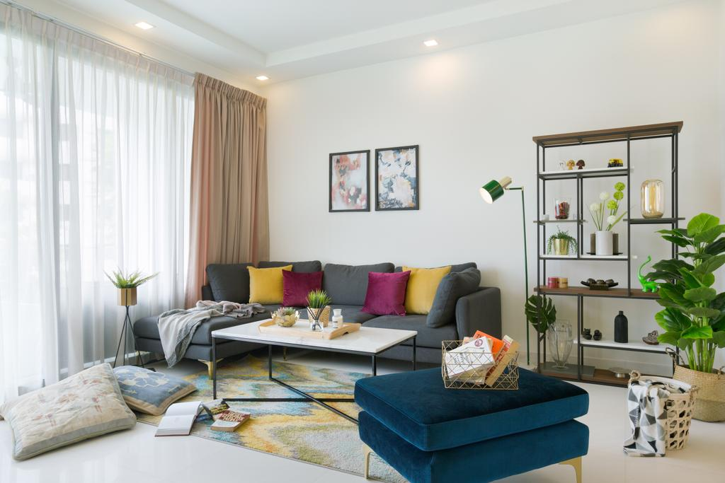 Contemporary, Condo, Living Room, Waterfall Gardens, Interior Designer, Home Philosophy