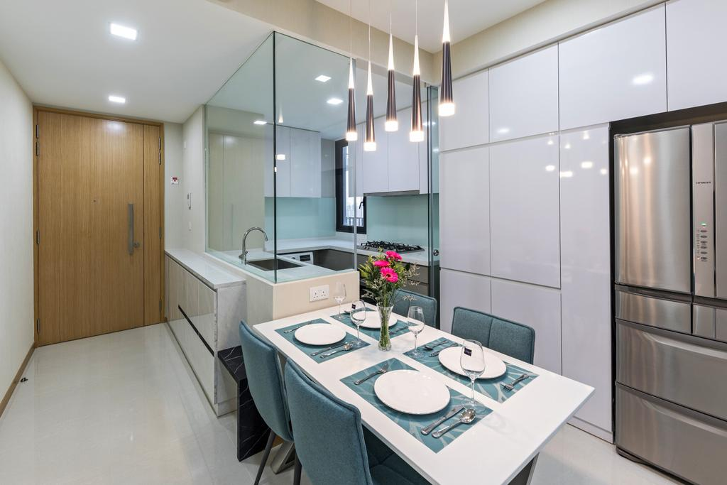 Contemporary, Condo, Dining Room, The Trilinq, Interior Designer, U-Home Interior Design