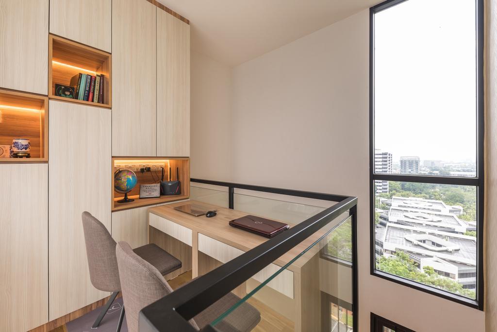 Contemporary, Condo, Study, The Trilinq, Interior Designer, U-Home Interior Design