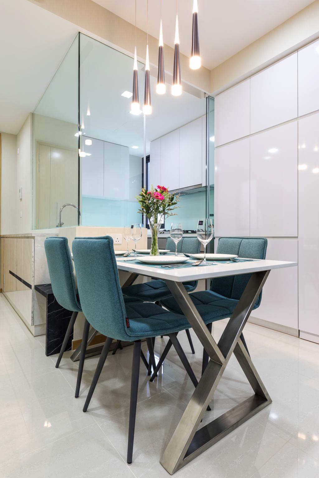Contemporary, Condo, Dining Room, The Trilinq, Interior Designer, U-Home Interior Design