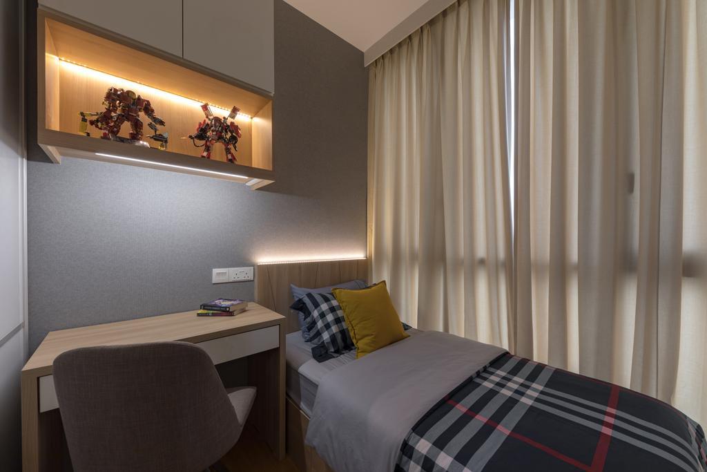 Contemporary, Condo, Bedroom, The Trilinq, Interior Designer, U-Home Interior Design
