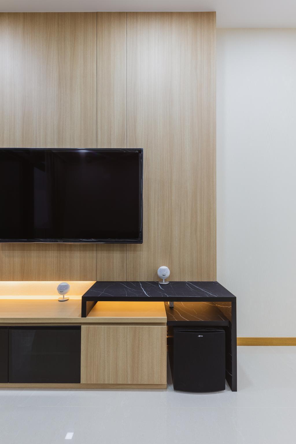 Contemporary, Condo, Living Room, The Trilinq, Interior Designer, U-Home Interior Design