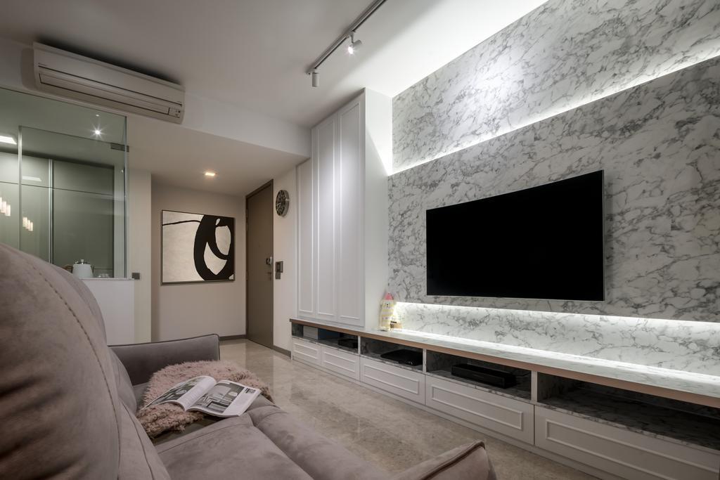 Contemporary, Condo, Living Room, Riversails, Interior Designer, Weiken.com