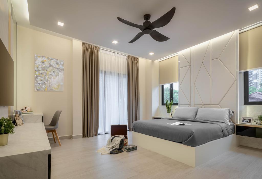Contemporary, Landed, Bedroom, Bright Hill Crest, Interior Designer, Weiken.com