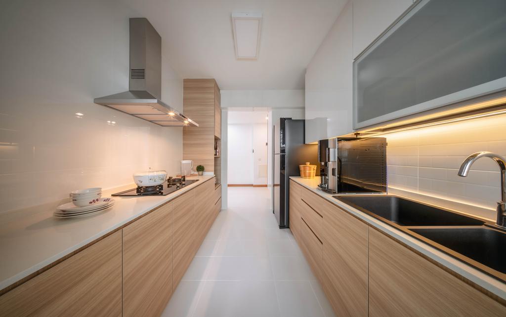 Contemporary, HDB, Kitchen, Punggol Drive, Interior Designer, Weiken.com