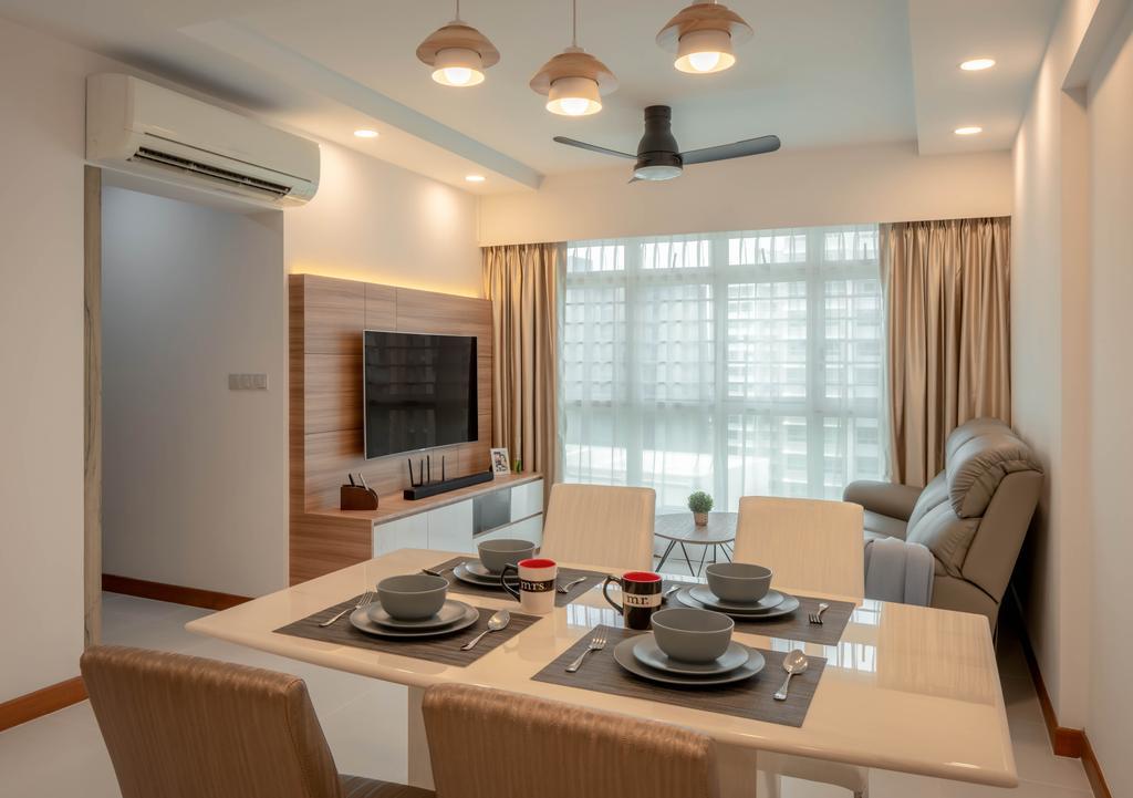 Contemporary, HDB, Living Room, Punggol Drive, Interior Designer, Weiken.com