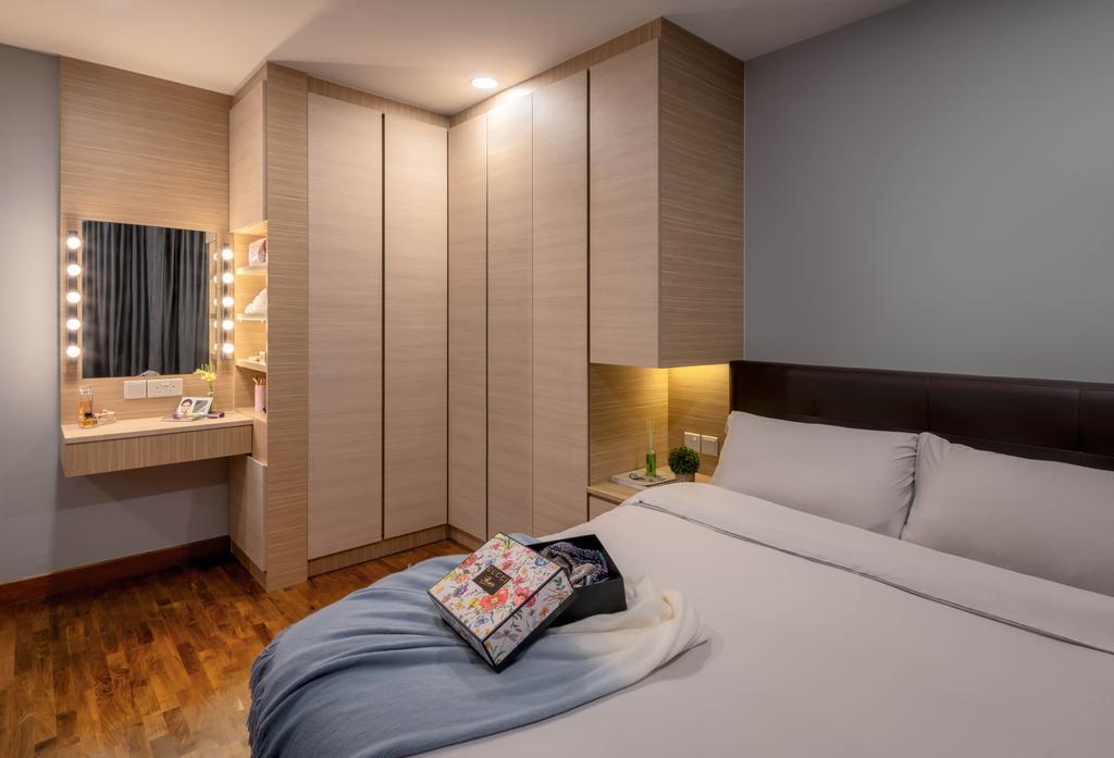Contemporary, HDB, Bedroom, Punggol Drive, Interior Designer, Weiken.com