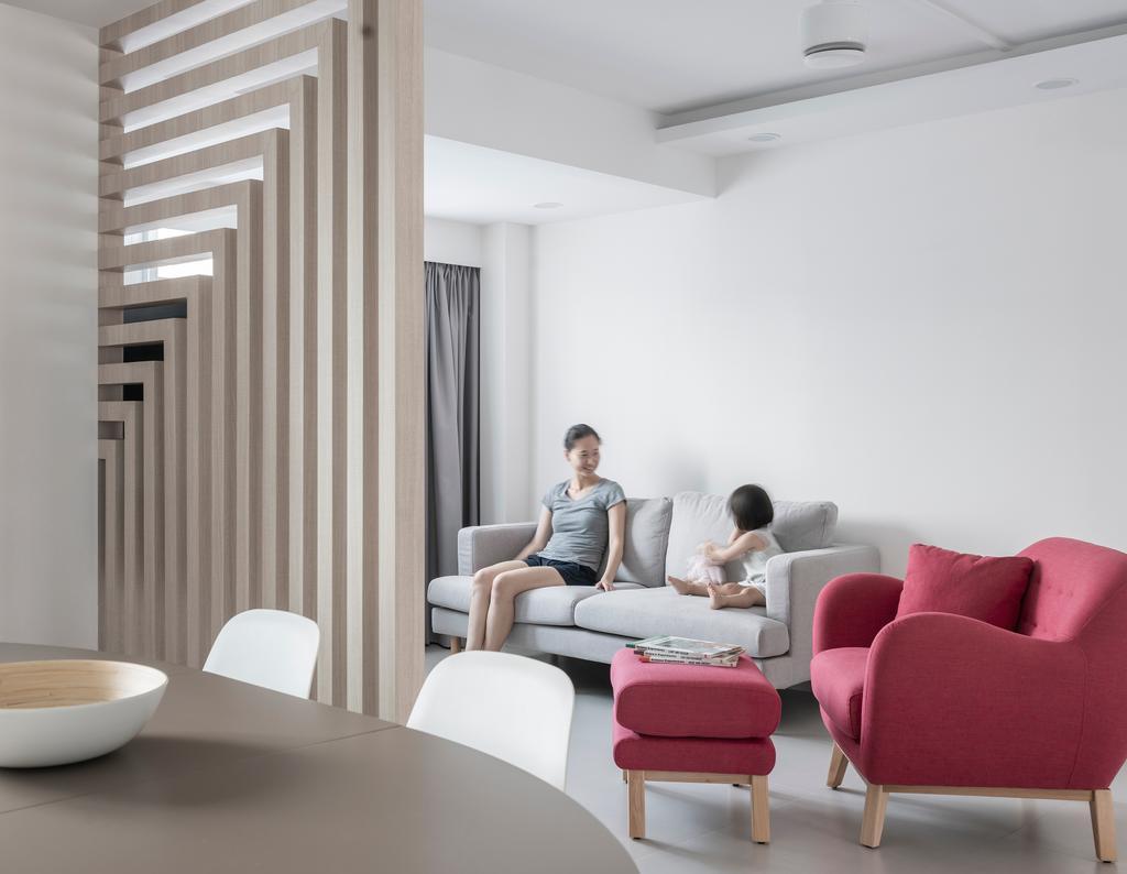 Contemporary, HDB, Living Room, Bedok North, Interior Designer, Stylemyspace