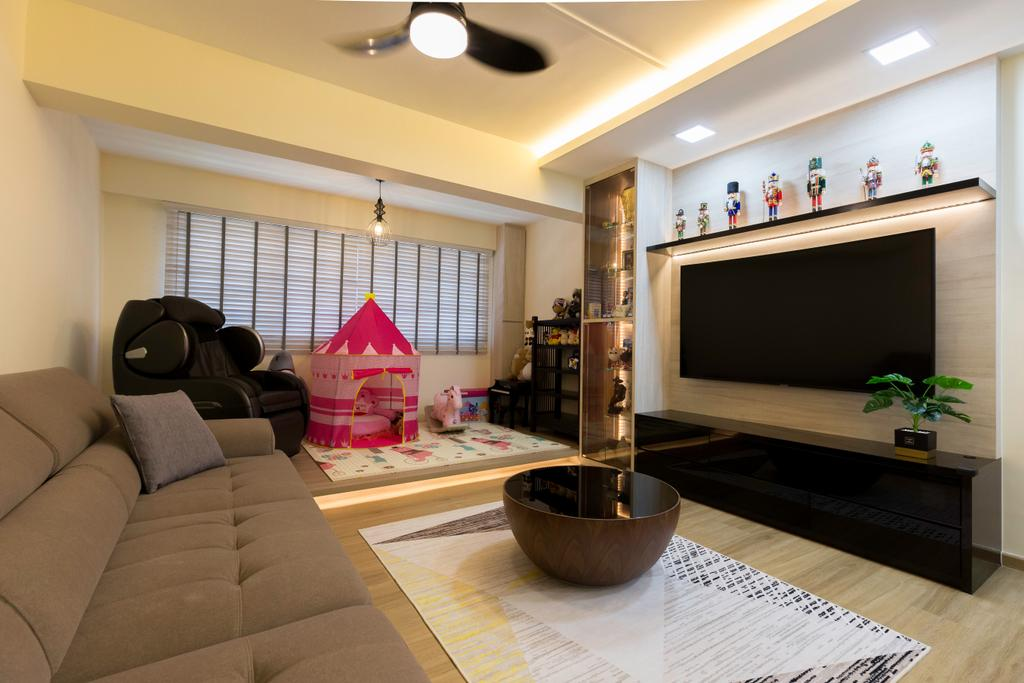 Contemporary, HDB, Living Room, Choa Chu Kang Avenue 4, Interior Designer, Tab Gallery
