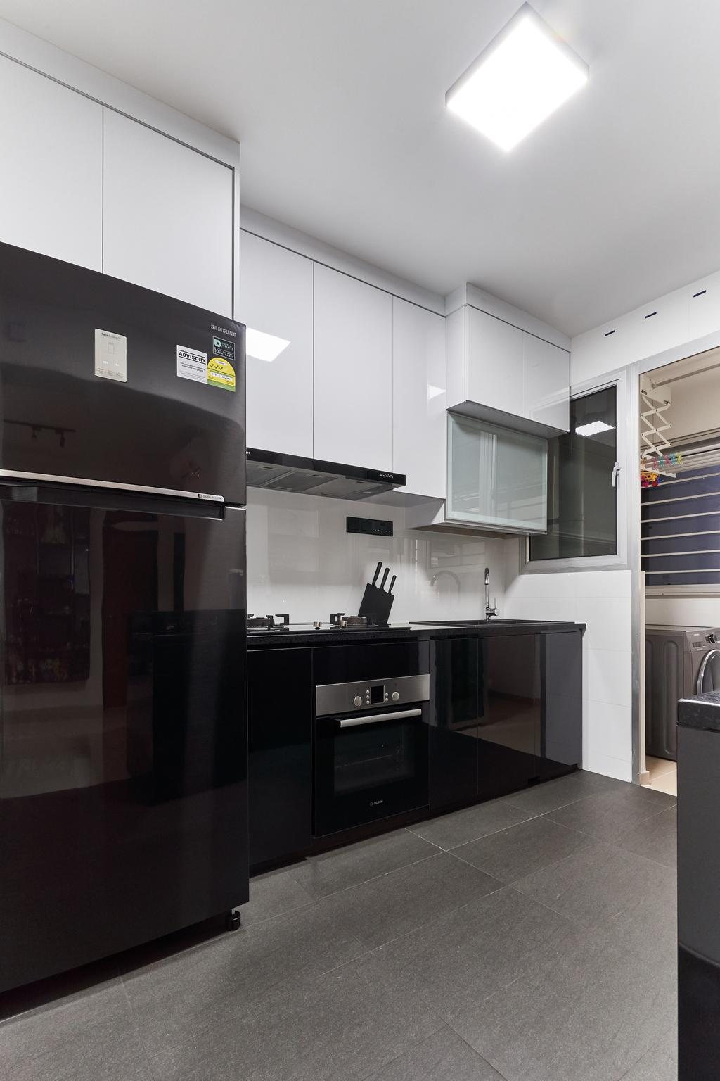 Contemporary, HDB, Kitchen, Bukit Batok West Avenue 8, Interior Designer, Roughsketch