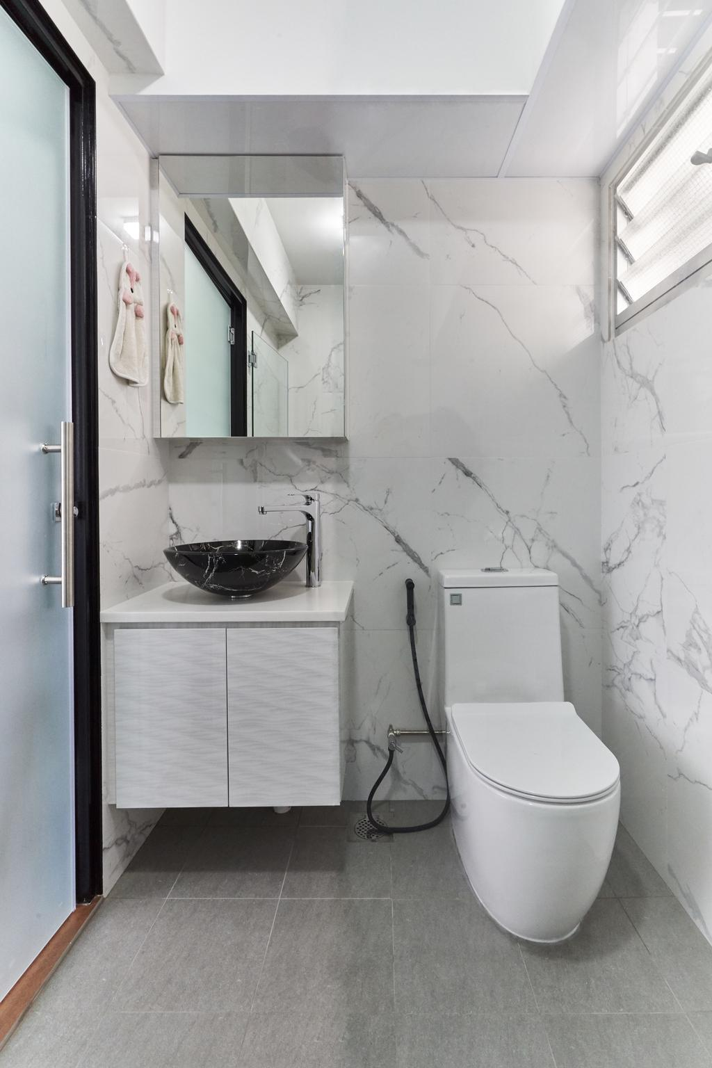 Contemporary, HDB, Bathroom, Bukit Batok West Avenue 8, Interior Designer, Roughsketch