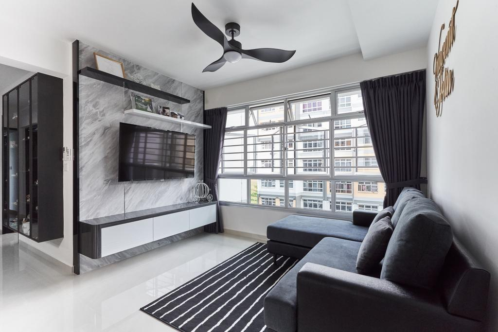 Contemporary, HDB, Living Room, Bukit Batok West Avenue 8, Interior Designer, Roughsketch