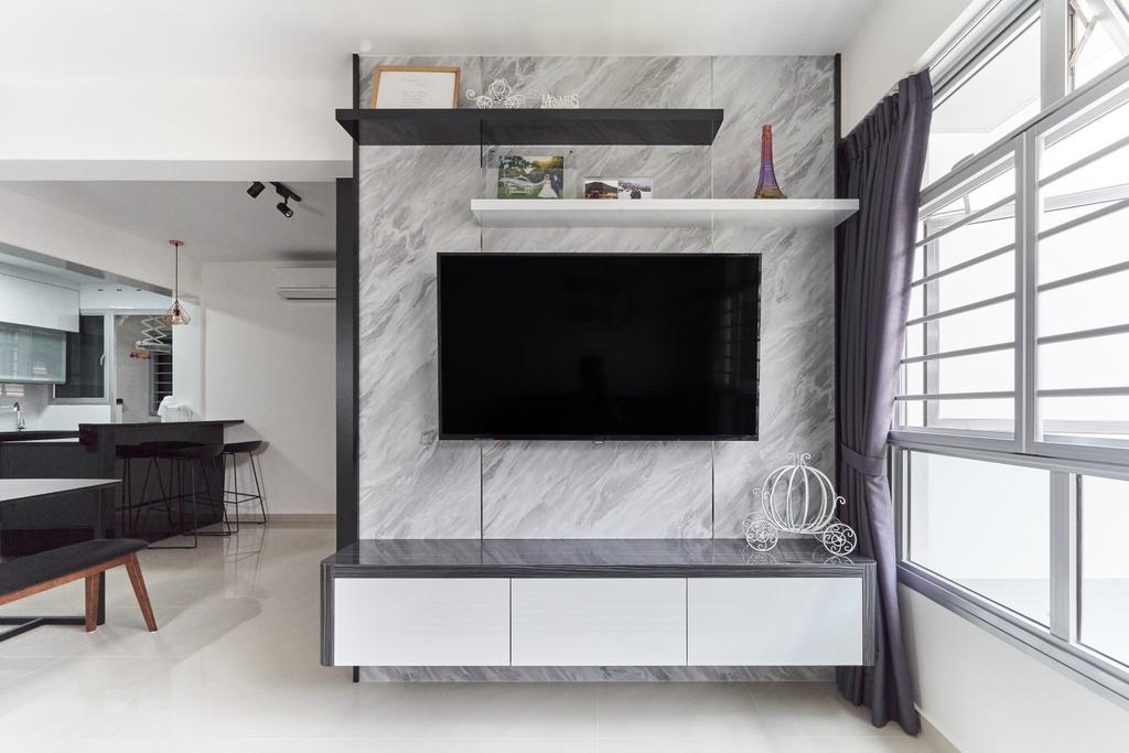 Contemporary, HDB, Living Room, Bukit Batok West Avenue 8, Interior Designer, Roughsketch