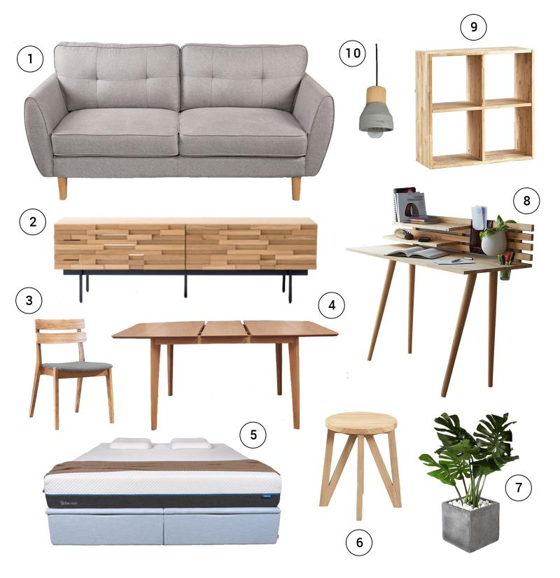 Comfort Design Furniture Shopping List