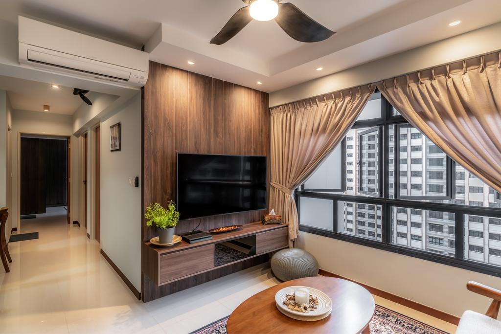 Contemporary, HDB, Living Room, Buangkok Crescent, Interior Designer, NID Design Group