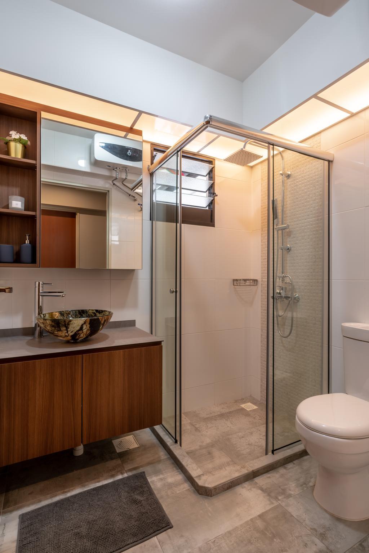 Contemporary, HDB, Bathroom, Buangkok Crescent, Interior Designer, NID Design Group
