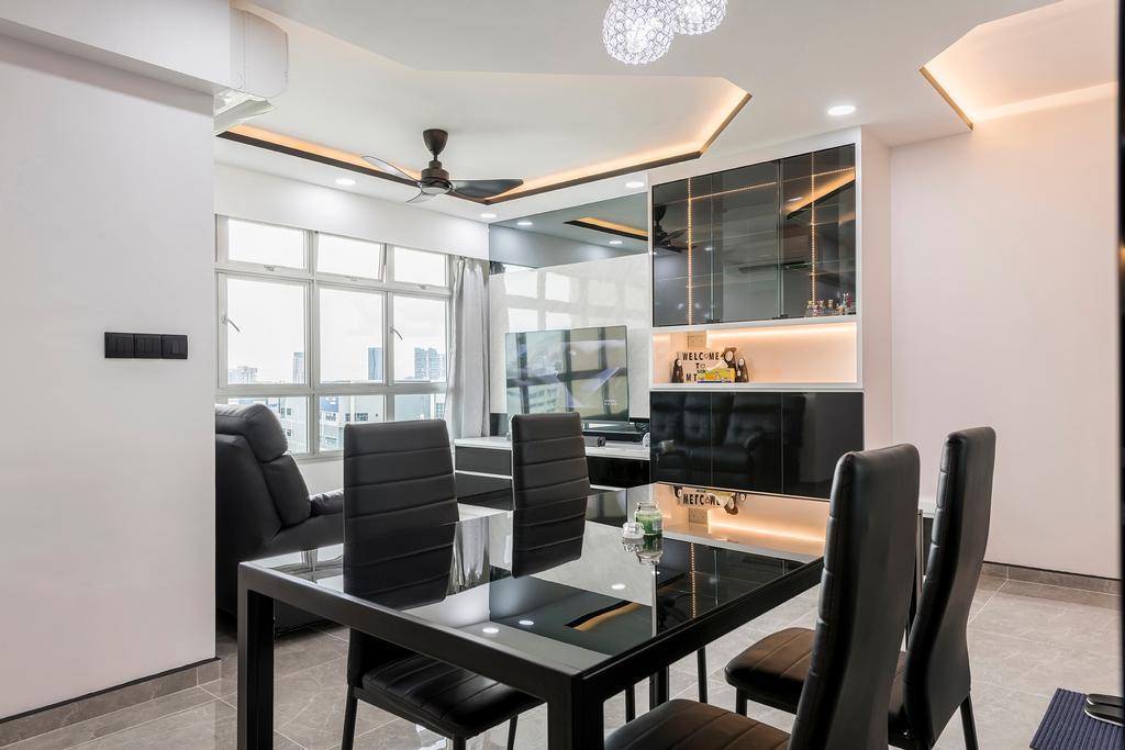 Contemporary, HDB, Dining Room, Skyline II, Interior Designer, NID Design Group