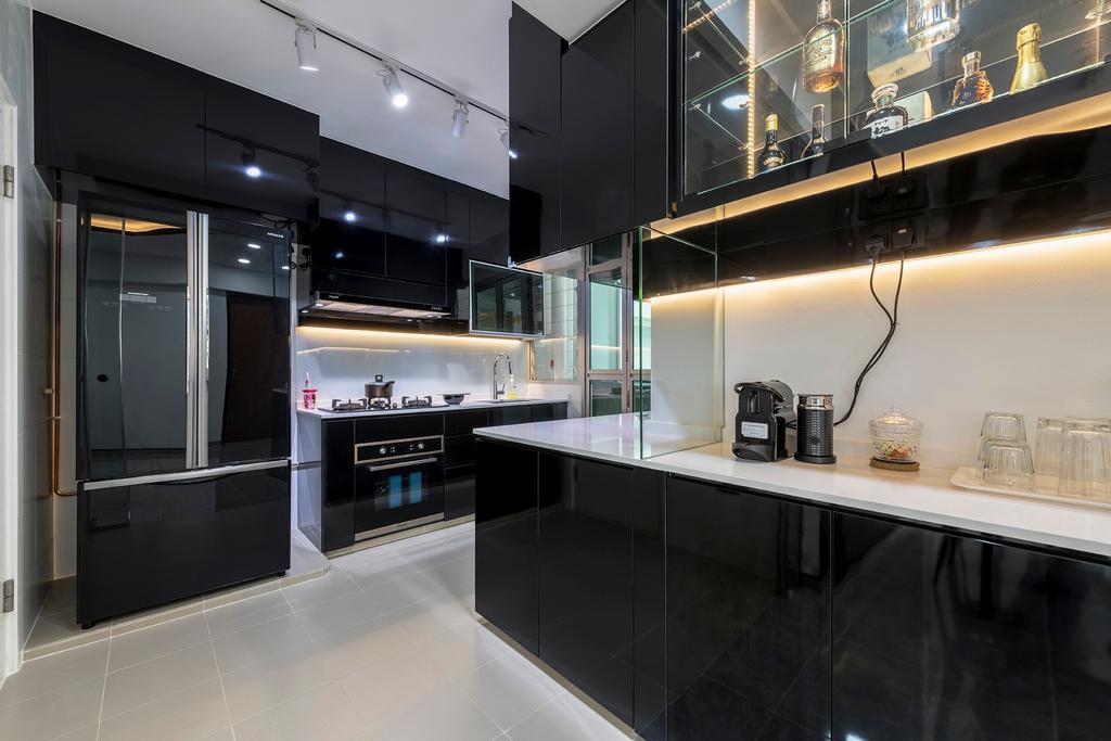Contemporary, HDB, Kitchen, Skyline II, Interior Designer, NID Design Group